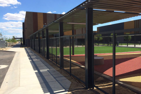 Wire security Fencing or Screening and perforated deck
