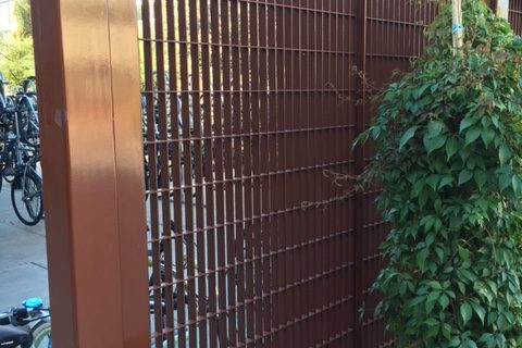 Architectural Painted bar grating fence panels